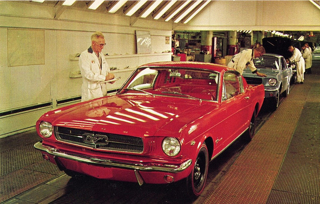 1965 Ford Mustang Assembly Line in Dearborn