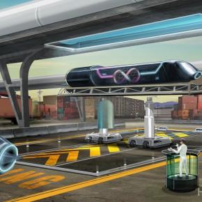 Hyperloop Pod in a Dock