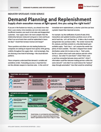 Improving Demand Planning and Replenishment in Foodservice