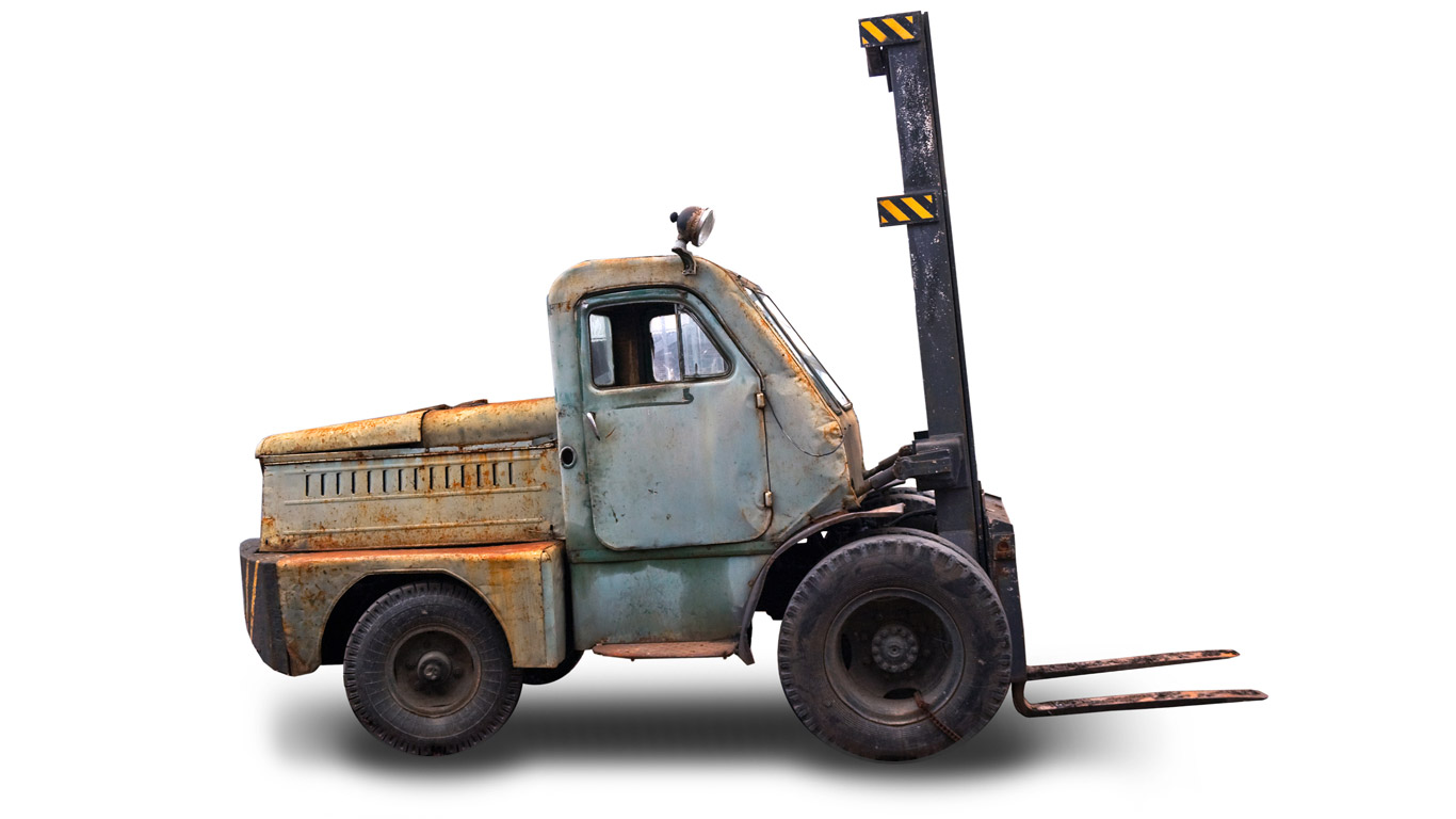 A Forklift Truck - history of the forklift