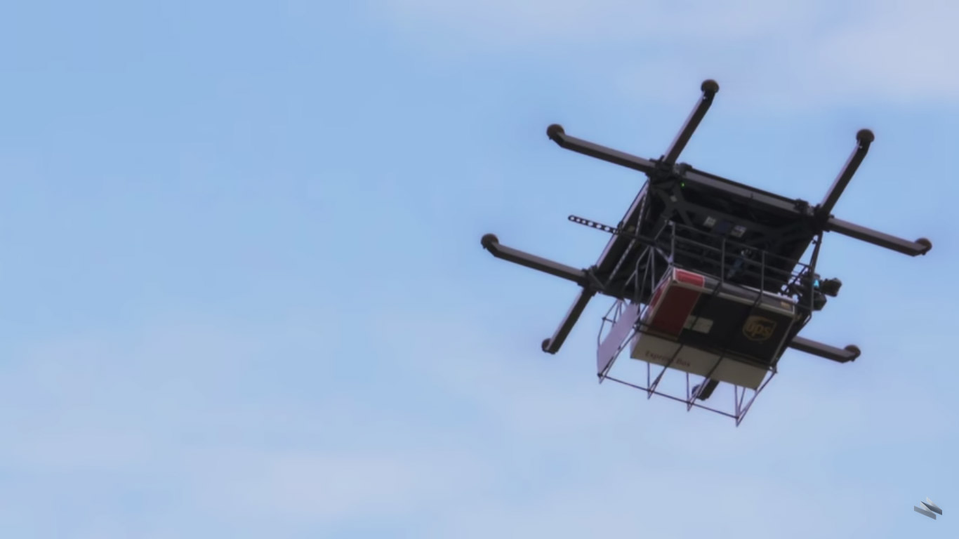 Drones UPS Tests In Rural Deliveries From Truck