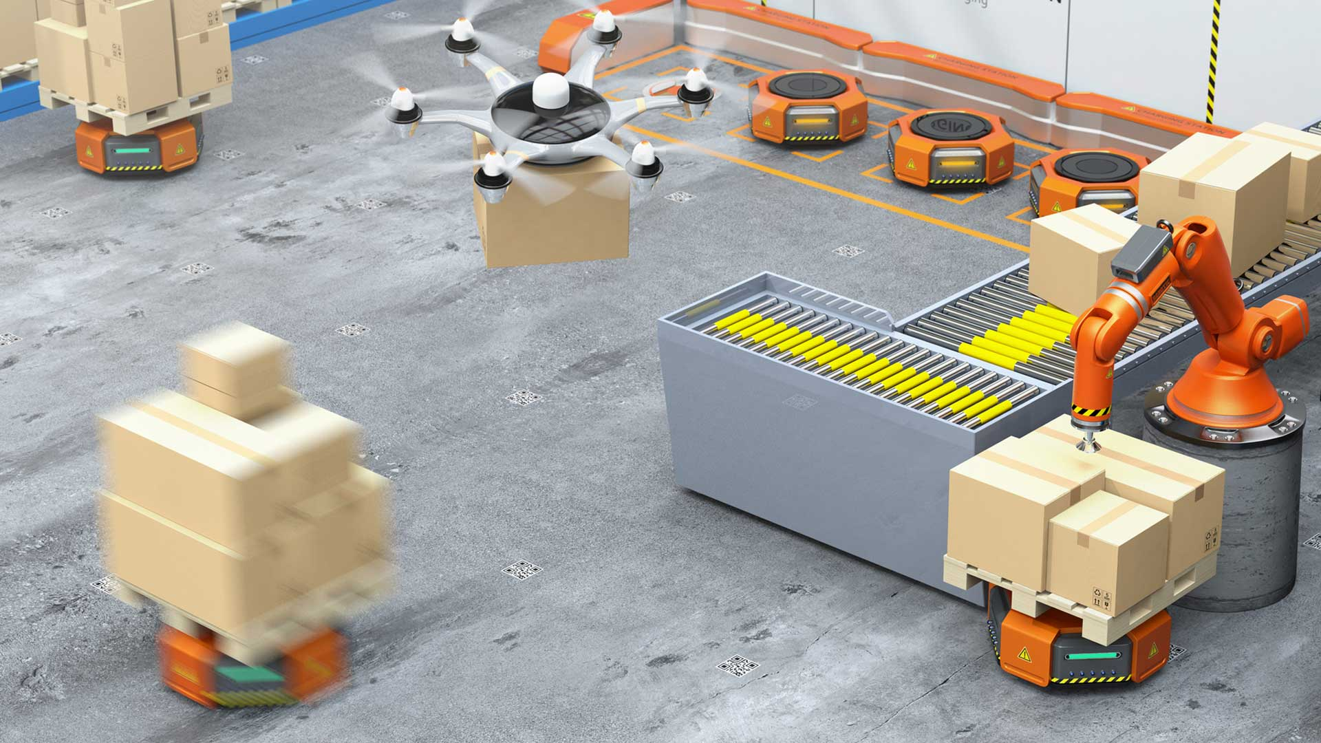 Warehousing and Distribution on Intelligent Logistics Networks