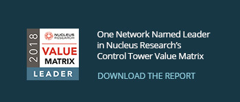 Nucleus Research Control Tower Value Matrix 2018